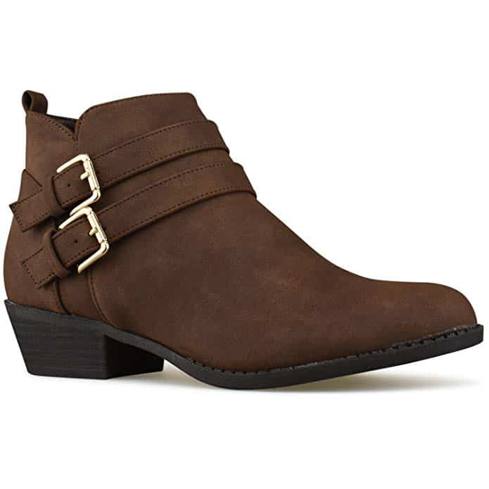 Super comfortable strapy booties that are totally affordable.