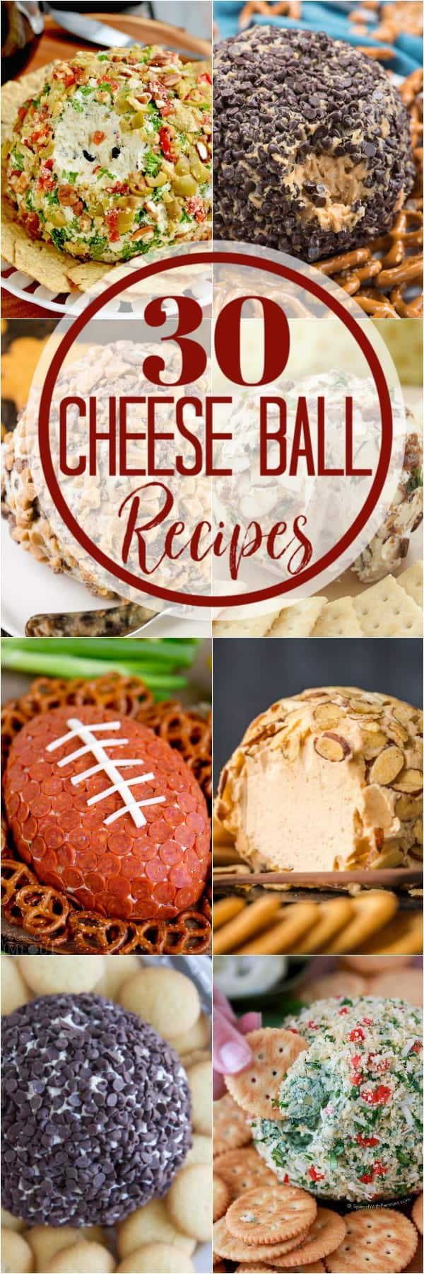 collage of cheese ball recipes