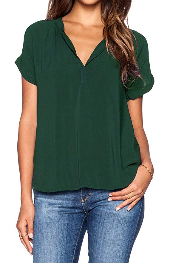 woman in a green chiffon top