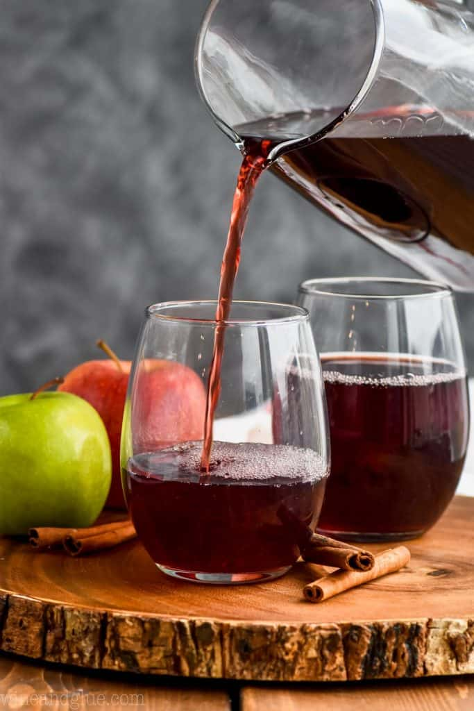 pouring an easy sangria recipe