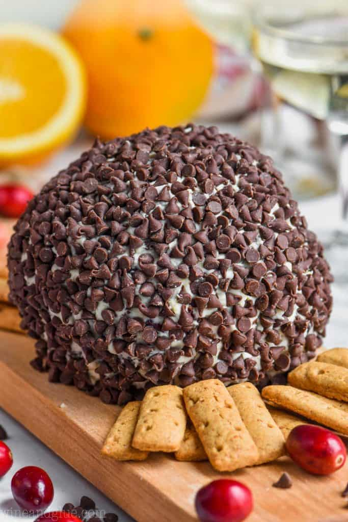 chocolate chip coated cranberry orange cheese ball recipe