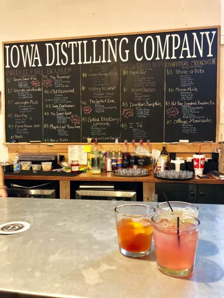 three drinks sitting on the bar