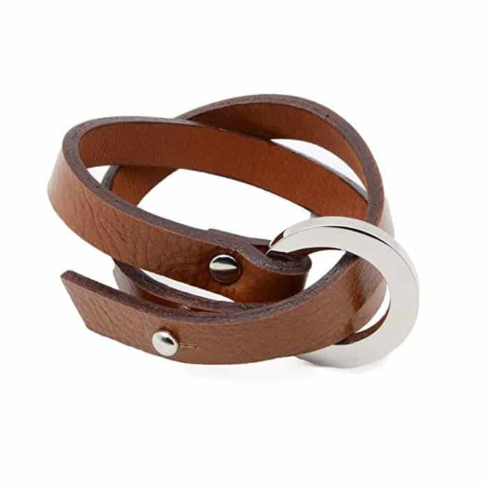 double strand wrap leather bracelet