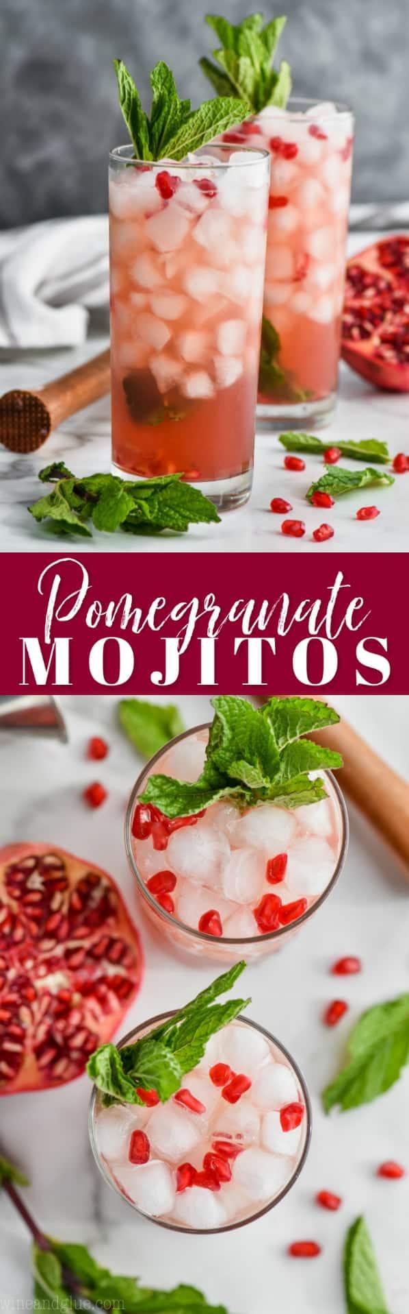 collage of mojito recipe