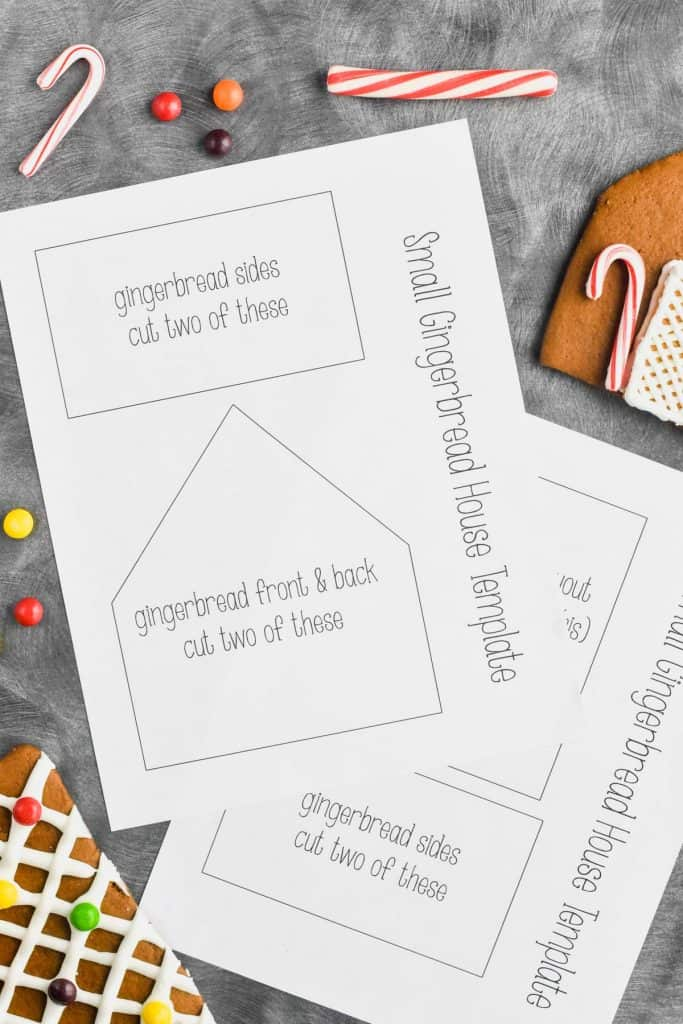 Christmas Gingerbread House Printables.Gingerbread House Template Printable Wine Glue