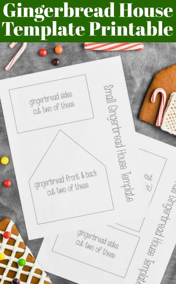 Gingerbread House Template Printable