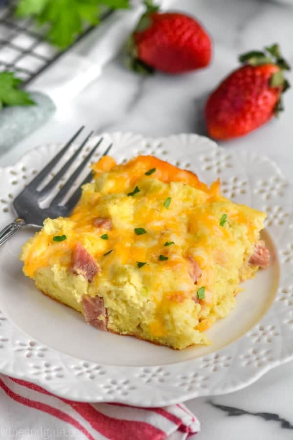 Ham and Cheese Overnight Breakfast Casserole