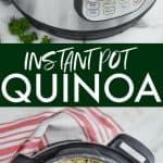 collage of instant pot quinoa photos