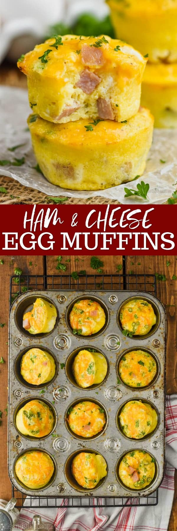 collage of photos of egg muffins