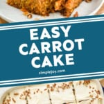 a pinterest graphic of carrot cake