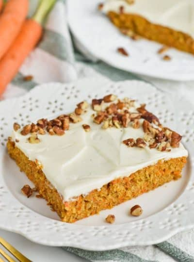 Homemade Carrot Cake Sheet Cake