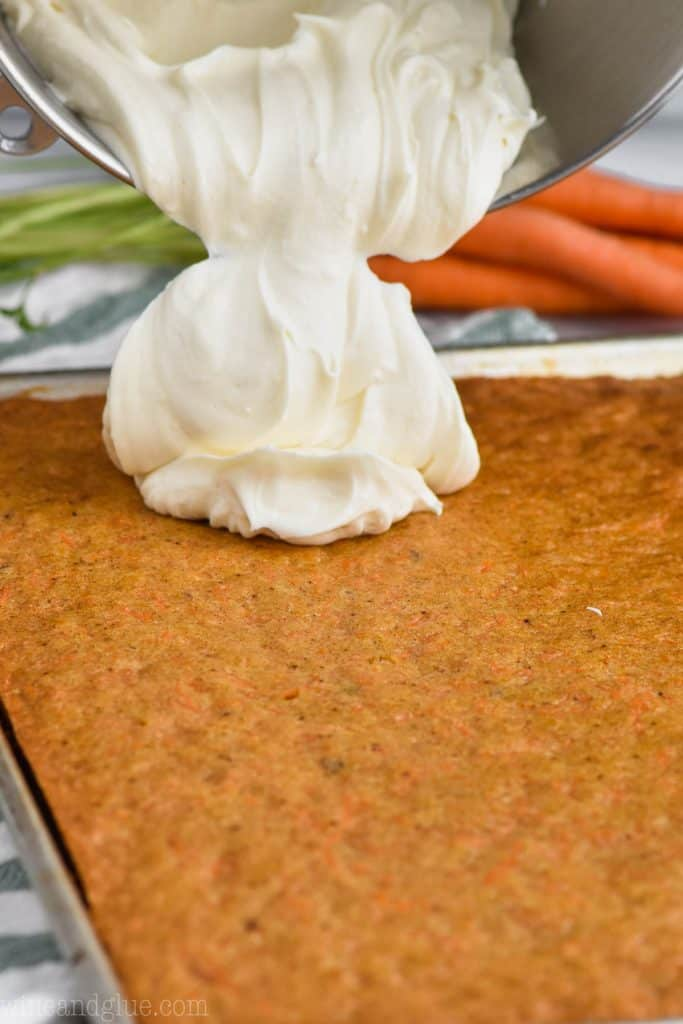 using cream cheese frosting for carrot cake frosting