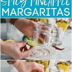 collage of spicy pineapple margrita photos