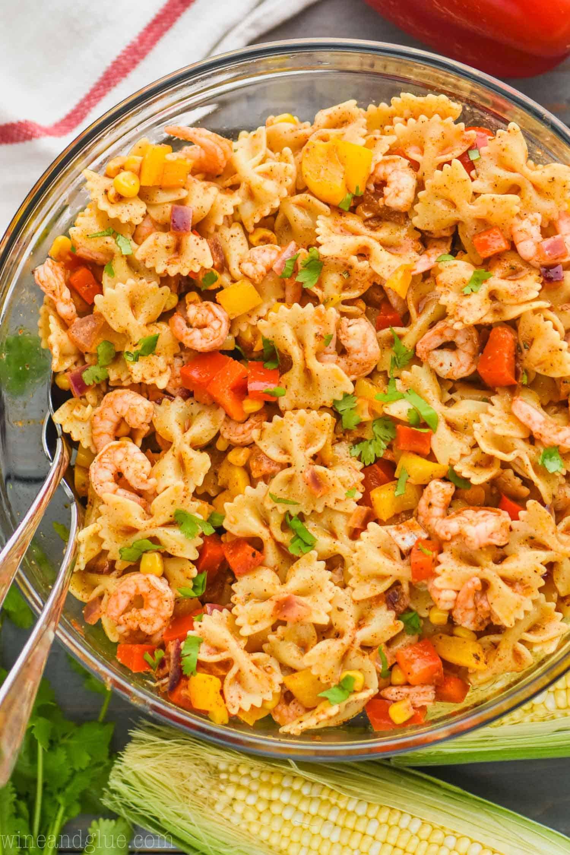 Shrimp Fajita Pasta Salad