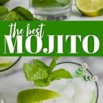 collage of photos of the best mojito recipe