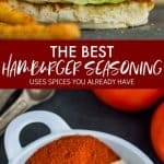 collage of photos of the best hamburger seasoning
