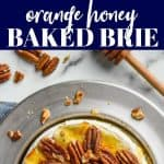 collage of baked brie recipe