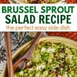 collage of photos of brussel sprout salad