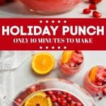 collage of photos of holiday punch