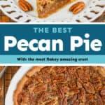 collage of pecan pie