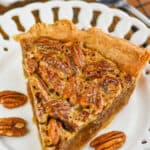 piece of pecan pie on a plate