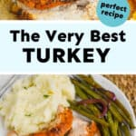 collage of photos of turkey breast recipe