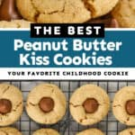collage of photos of peanut butter blossoms