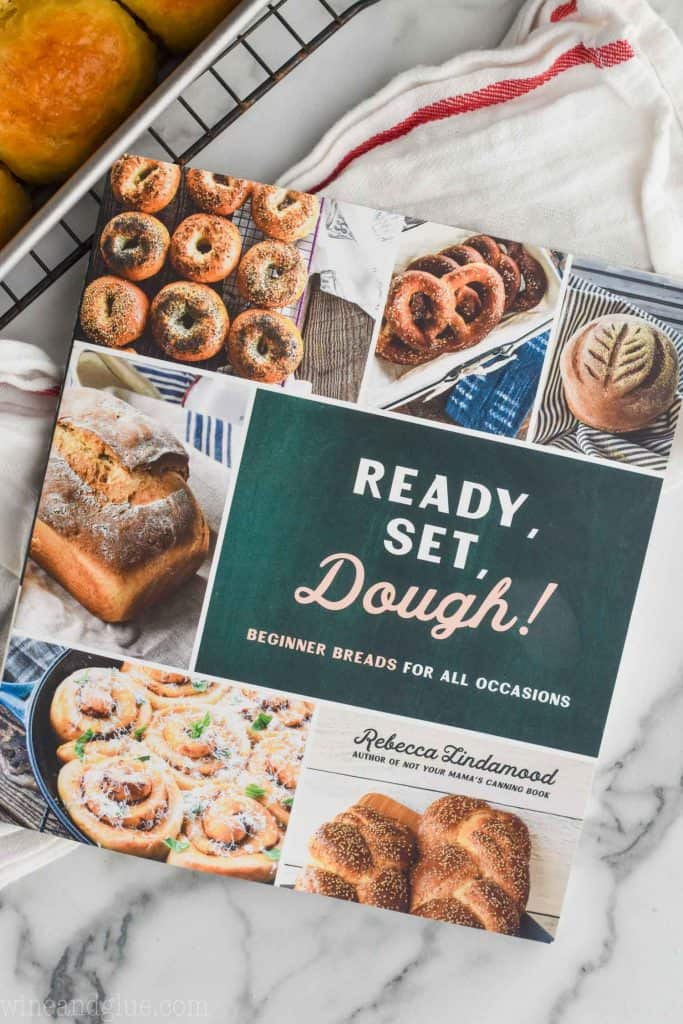 an overhead picture of the book ready, set, dough by Rebecca lindamood