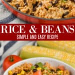 collage of photos of the best rice and beans