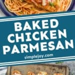 Pinterest graphic of Baked Chicken Parmesan