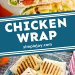 Pinterest graphic of chicken wrap