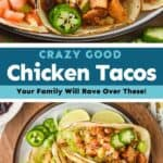 collage of photos of chicken tacos