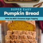 collage of pumpkin bread photos