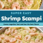 collage of photos of shrimp scampi