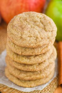a stack of apple cookies