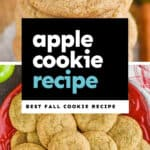 collage of photos of apple cookies
