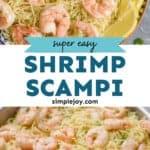 Pinterest graphic of shrimp scampi