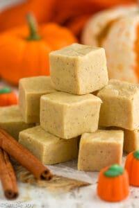 a pile of pumpkin fudge
