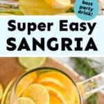 collage of photos of citrus sangria