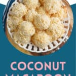 Pinterest graphic of coconut macaroons