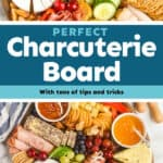 a collage of photos of a charcuterie board