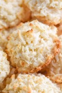 close up of coconut macaroons