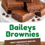 collage of photos of baileys brownies