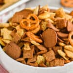 Pinterest graphic for Chex mix