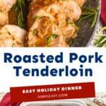 pinterest image of pork tenderloin recipe