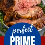 pinterest image for prime rib roast