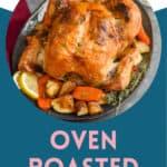 Pinterest graphic for roast chicken