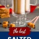 pinterest image for salted caramel mocha