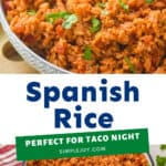 Spanish rice pinterest graphic