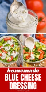 pinterest graphic of blue cheese dressing